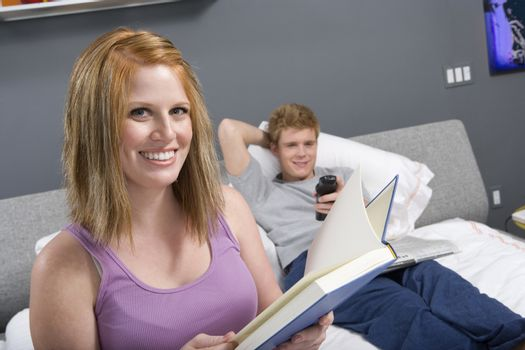 Couple Together in Bedroom
