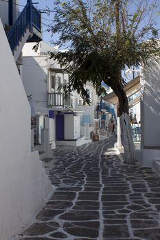 Typical Aegean town street