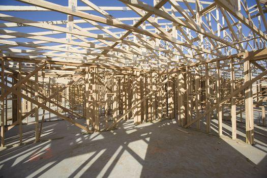 Framework of a house under construction