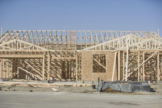 Framework of a new building under construction