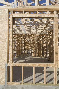 Framework of house under construction