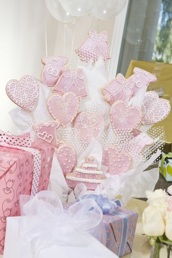 Gifts and decoration at hen party