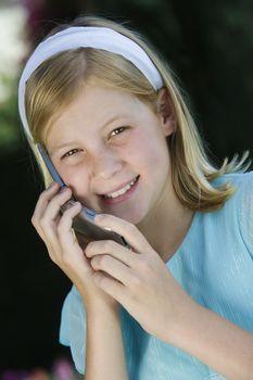Teenage Girl Using Cell Phone