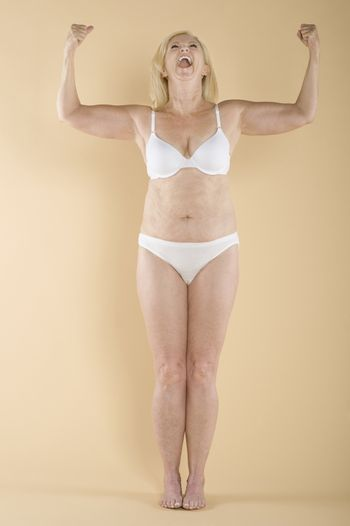 Woman showing her biceps