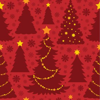 Christmas seamless background 4 - eps10 vector illustration.