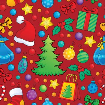 Christmas seamless background 1 - eps10 vector illustration.