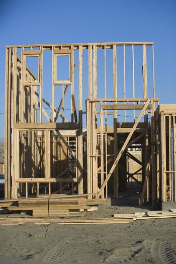 New residential house under construction