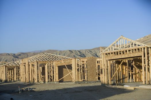 New residential houses under construction