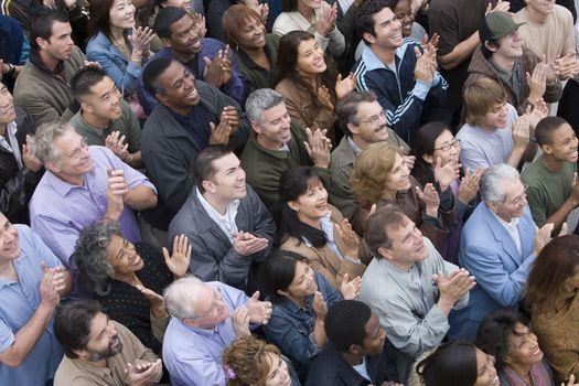 Crowd applauding