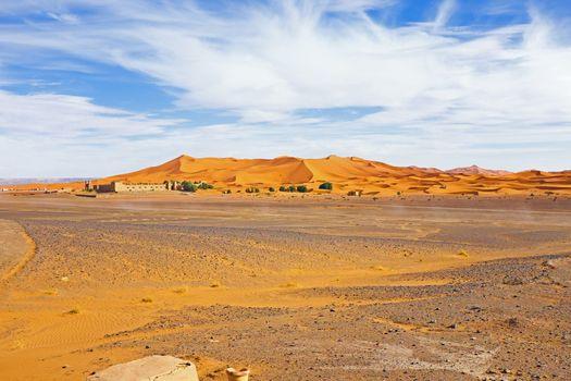 Hostel in the Erg Chebbi desert in Morocco Africa