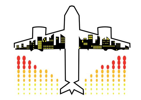 Travel by plane. Concepts illustration. 10 EPS