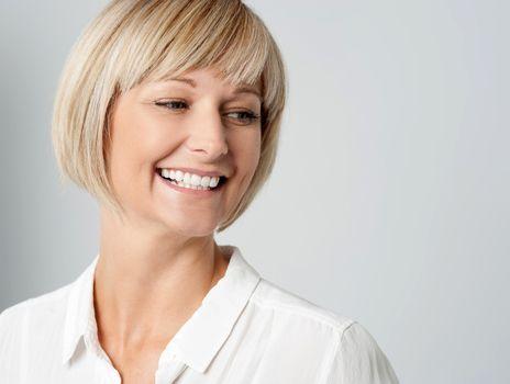 Portrait of a smiling lady