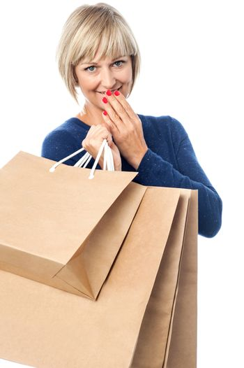 Fashionable lady with shopping bags
