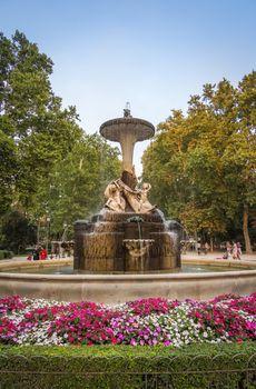 Galapagos fountain in Buen Retiro park, Madrid
