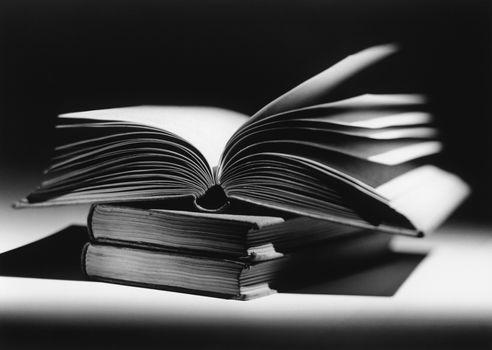 Open book (b&w)