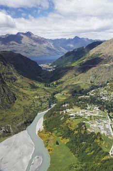 Road winding through mountains