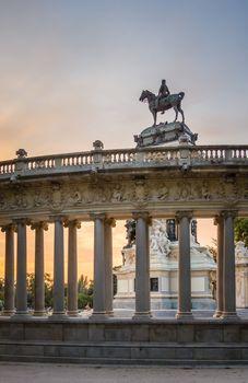 Alfonso XII monument in Buen Retiro park, Madrid