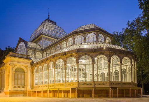 Crystal palace in Buen Retiro park, Madrid