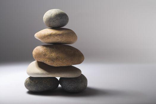 Stack of balanced pebbles