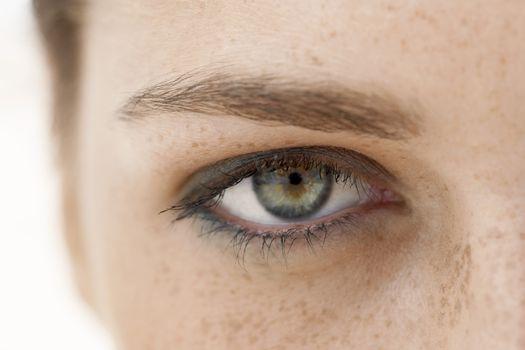 Closeup of teenage girl's eye