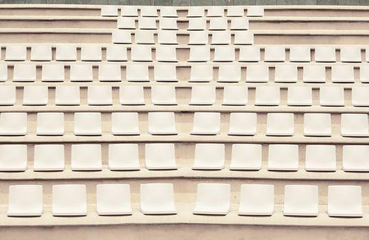 Seats in outdoor auditorium