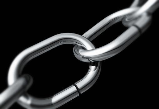 Silver chain close-up