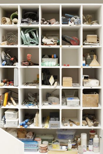 Shelves with various tools and equipment