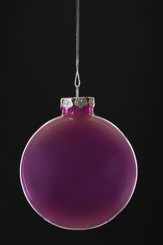 Purple Christmas bauble close-up