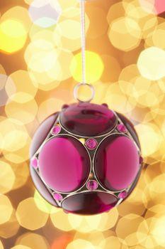 Closeup of Christmas bauble