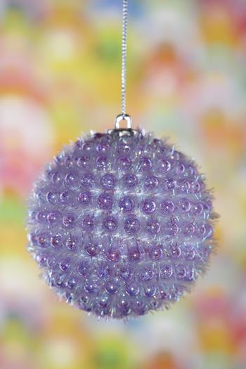 Detail view of a Christmas bauble