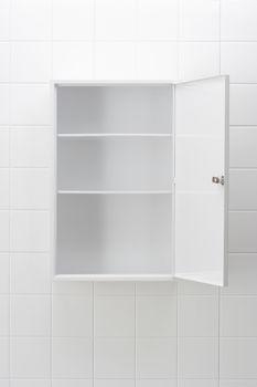 Empty bathroom cabinet