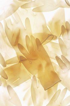 Pile of medical gloves