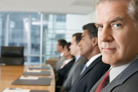 Businessman at conference meeting portrait