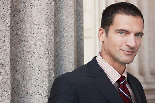 Portrait of a confident businessman in suit