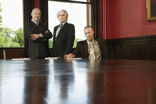 Men in Conference Room