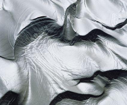 Patterns in wet sand