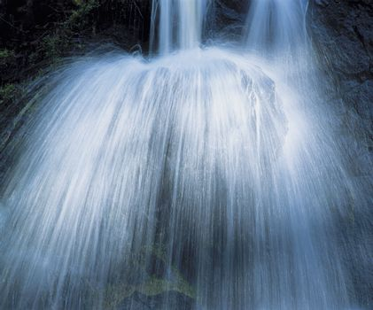 Waterfall low angle view