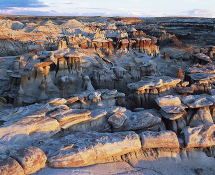 Rock formations elevated view