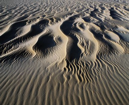 Patterns in sand elevated view