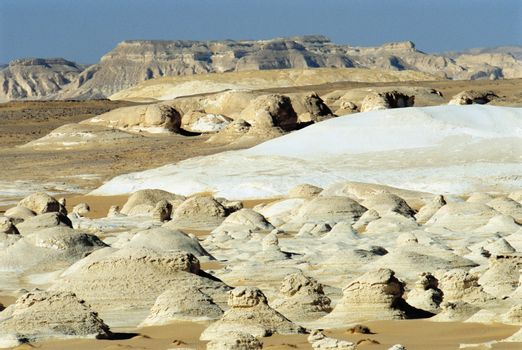 Desert landscape with formations