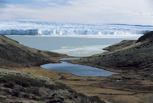 Hills and Glacier