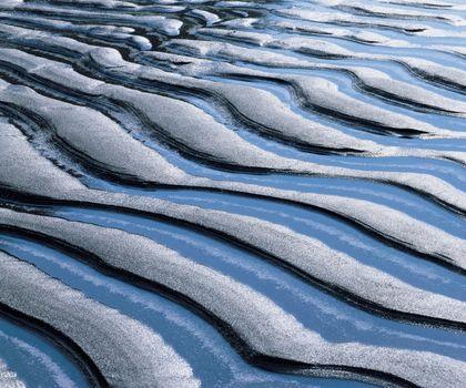 Ridge patterns in sand