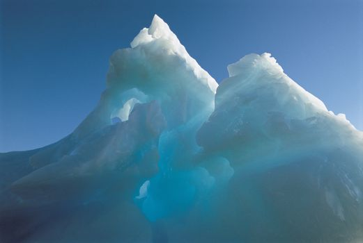 Closeup of ice formation
