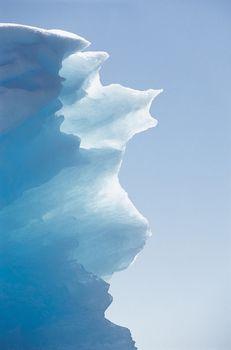 Iceberg against clear sky