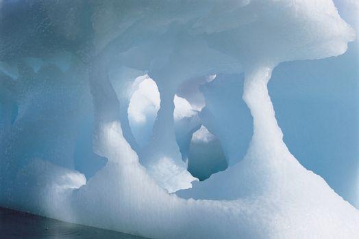 Closeup of melting iceberg