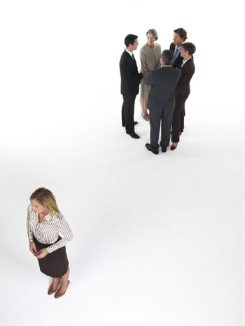 Businesswoman Feeling Left Out