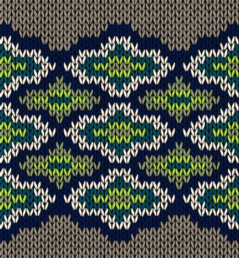 Knit Seamless Jacquard Ornament Texture. Fabric Color Background