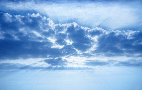 Beautiful cumulonimbus clouds