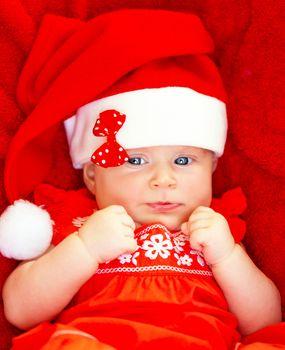 Baby girl celebrate Christmas