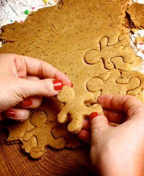 Preparation Gingerbread Men
